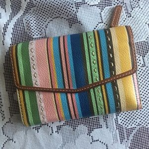 Multicolored Fossil wallet